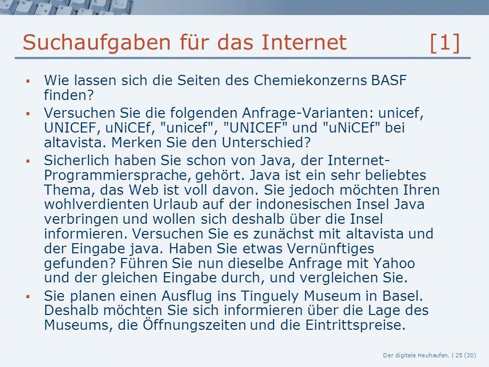 Suchaufgaben für das Internet [1]